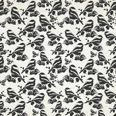 Rollo Digital Art - Chickadee Bird Pattern by Christina Rollo