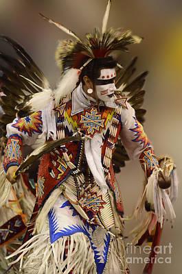 Pow Wow Chicken Dancer 12 Print by Bob Christopher