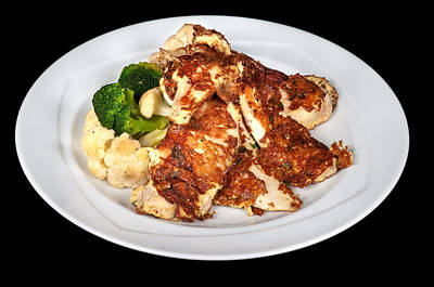 Broccoli Mixed Media - Chicken Fillet  by Boyan Dimitrov