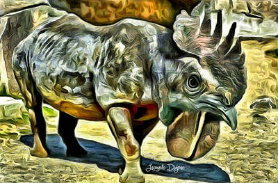 Beak Painting - Chickensauro by Leonardo Digenio