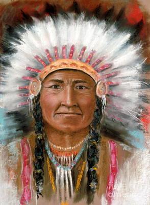 Pastel Portraits Pastel - Chief Joseph by John De Young