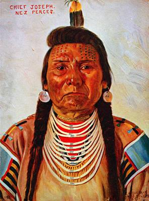 Chief Joseph, Nez Perc� Chief Print by Everett