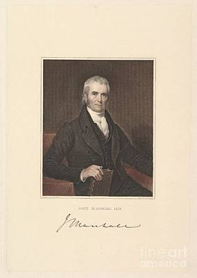 1833 Painting - Chief Justice John Marshall by Asher Brown Durand