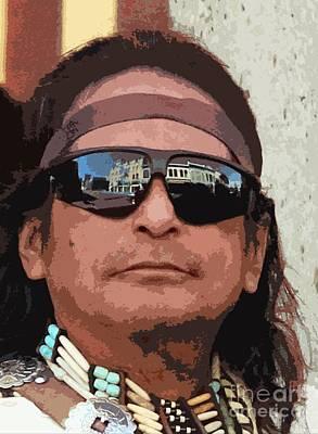Concho Photograph - Chief On The Street by Joe Jake Pratt