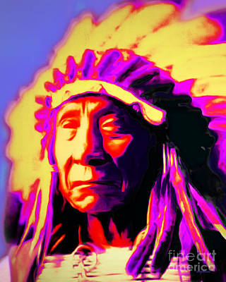 Chief Red Cloud 20151230v2 Vertical Print by Wingsdomain Art and Photography
