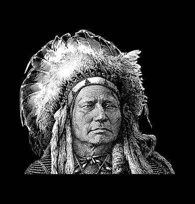 Chief Running Antelope - Native American History Print by War Is Hell Store