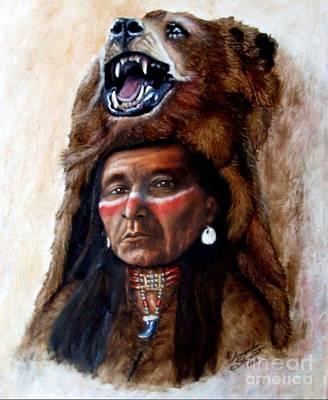 Choker Painting - Chief Running Bear by Amanda Hukill