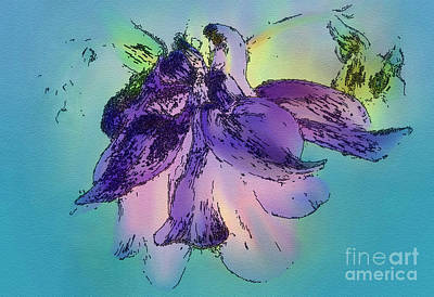 Mix Medium Digital Art - Chiffon  by Elaine Manley