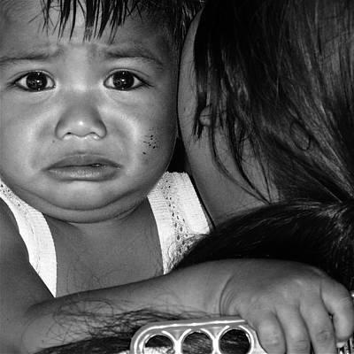 Child And Mother, Philippines - 2009 Print by Joseph Thiery