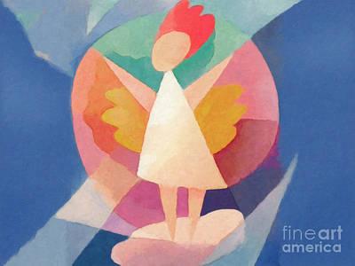 Child Angel Print by Lutz Baar