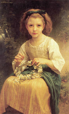 Crown Painting - Child Weaving A Crown by Celestial Images