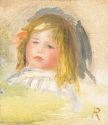 Child With Blond Hair Print by Auguste Renoir