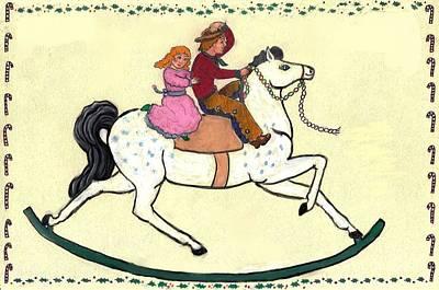 Childhood Christmas Card Done As A Teen Original by Dawn Senior-Trask