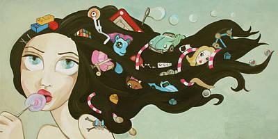 Childhood Memories Print by Dania Piotti