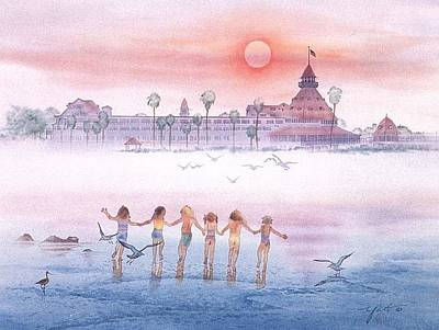 Hotel Del Coronado Painting - Childhood Memories by John YATO
