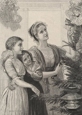 Christmas Tree Drawing - Childhood's Fairyland by English School