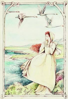Children Of Llyr Print by Morgan Fitzsimons