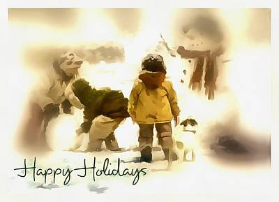 Digital Art - Children Of The Snow by Mario Carini