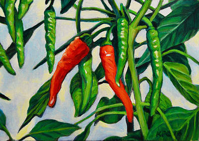 Rustic Painting - Chili  by Kenneth Cobb