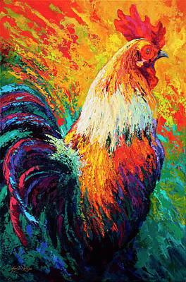 Roosters Painting - Chili Pepper by Marion Rose