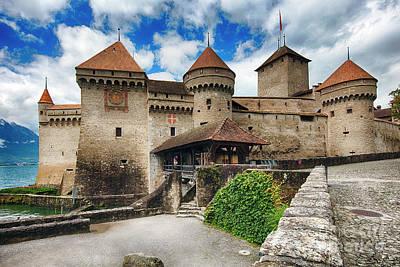 Chillon Castle Entrance Print by George Oze