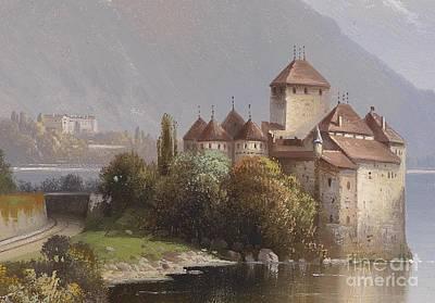 Chillon Castle Print by MotionAge Designs