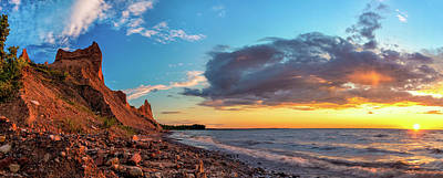 Colorful Cloud Formations Photograph - Chimney Bluffs by Mark Papke