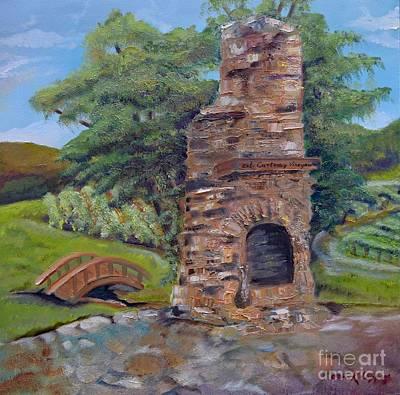Chimney Love -cartecay Vineyards - Ellijay Ga Original by Jan Dappen