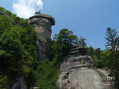 Chimney Rock State Park Nc Print by Anna Lisa Yoder