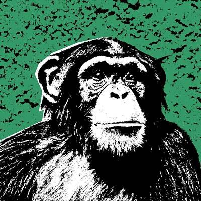 Chimpanzee Mixed Media - Chimpanzee-four by Otis Porritt