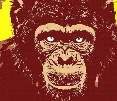 Chimpanzee Mixed Media - Chimpanzee-one by Otis Porritt