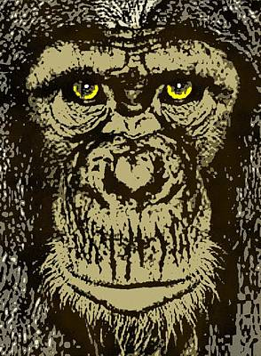 Chimpanzee Mixed Media - Chimpanzee by Otis Porritt