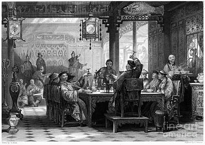 Ching Dynasty Photograph - China: Mandarins Home by Granger
