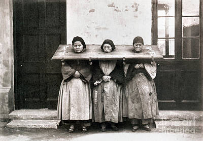 Ching Dynasty Photograph - China: Punishment, 1907 by Granger