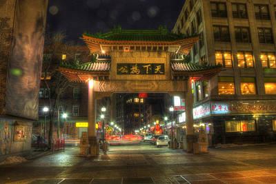 Chinatown Gate - Boston  Print by Joann Vitali
