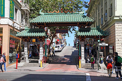 Bayarea Photograph - Chinatown Gate On Grant Avenue In San Francisco by Wingsdomain Art and Photography