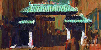 Chinatown Gate Print by Wingsdomain Art and Photography