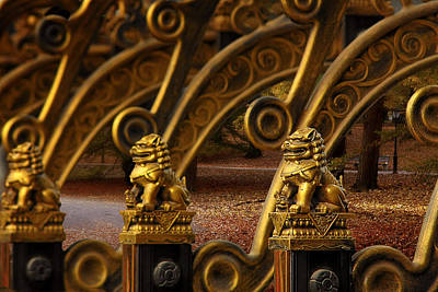 Traveling Photograph - Chinese Lions - Luck Prosperity Power Grandeur by Christine Till