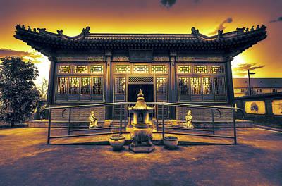 Chinese Temple Print by Wayne Sherriff