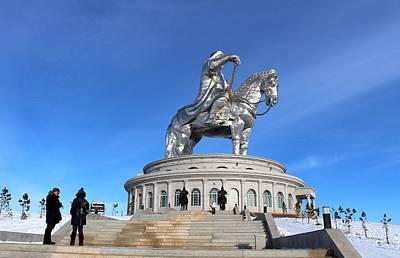 Chinggis Khan Statue/tsagaan Sar Print by Diane Height