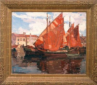 Edgar Payne Painting - Chioggia Boats by Edgar Payne