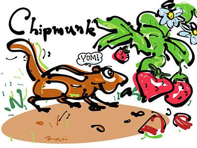 Chipmunk Print by Brett LaGue