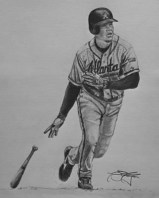 Chipper Jones Drawing - Chipper by Ryan Fritz