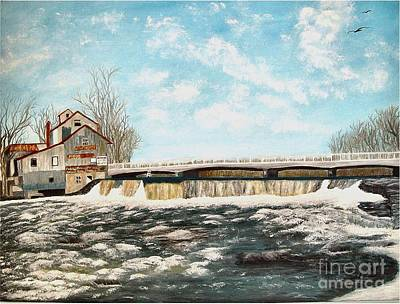 Ptints Painting - Chisholms Mill by Peggy Holcroft