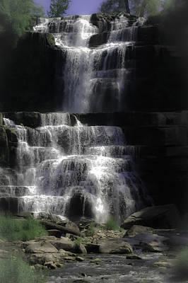 Chittenango Falls Print by DigiArt Diaries by Vicky B Fuller
