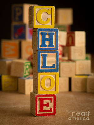 Chloe Photograph - Chloe - Alphabet Blocks by Edward Fielding
