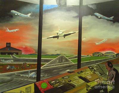 Choas At The Airport Original by Michael Robinson