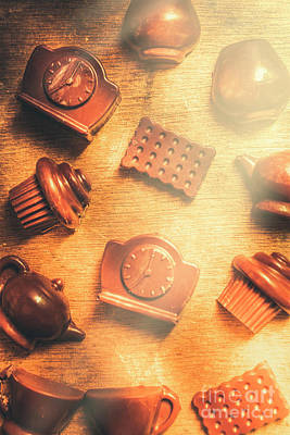Foodstuffs Photograph - Chocolate Cafe Background by Jorgo Photography - Wall Art Gallery