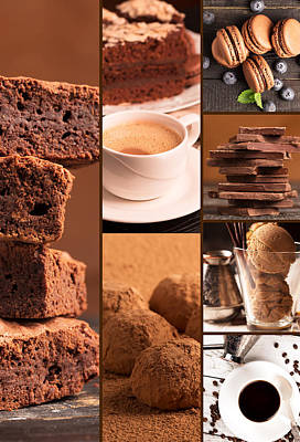 Chocolate Desserts 3 Print by Vadim Goodwill