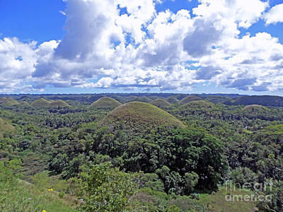 Chocolate Hills Of Bohol Philippines Print by Kay Novy
